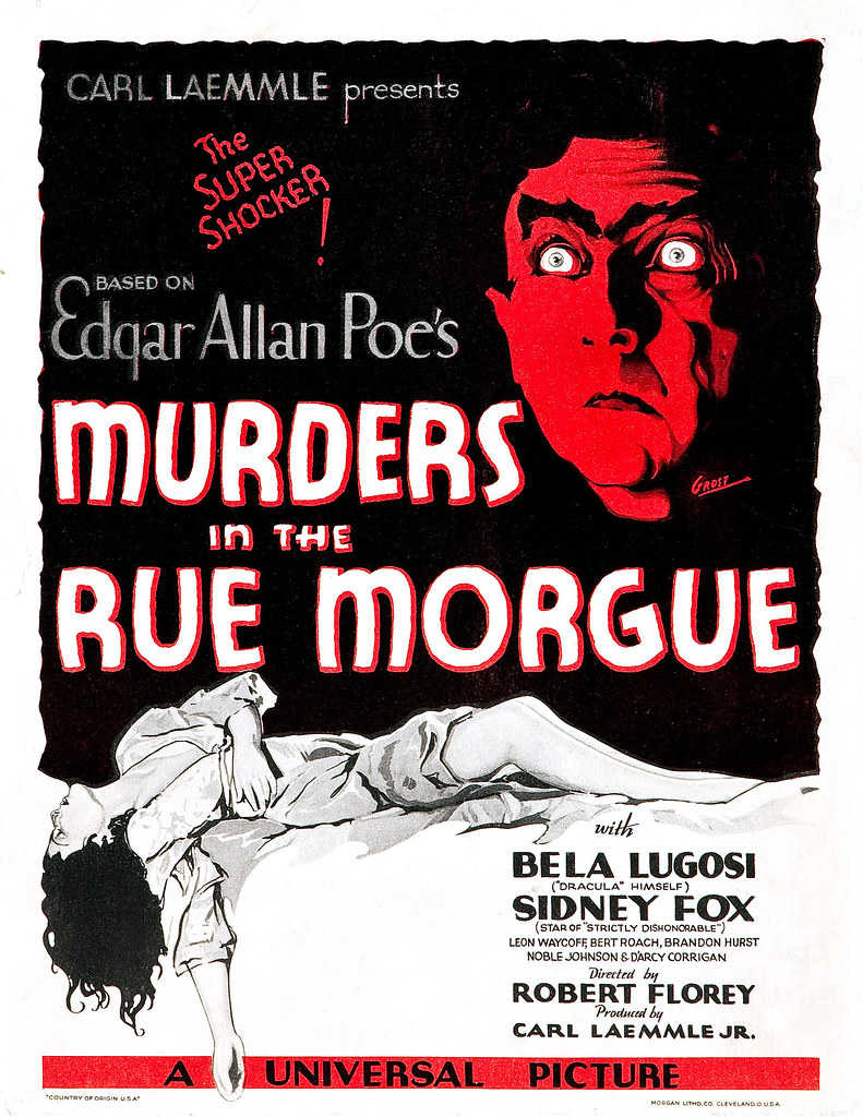 murders in the rue morgue movie poster