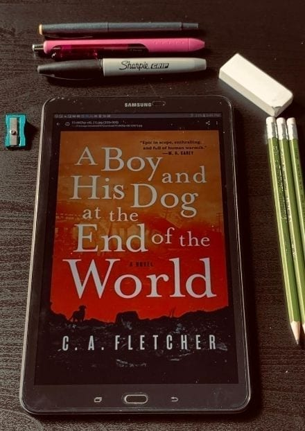 A boy and His Dog at the End of the World by G.A. Fletcher.