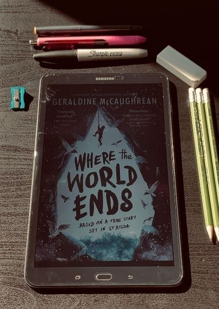 Where the world ends by Geraldine McCaughrean.