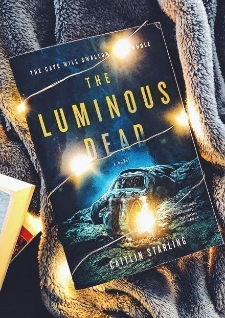 the luminous dead book cover in lights