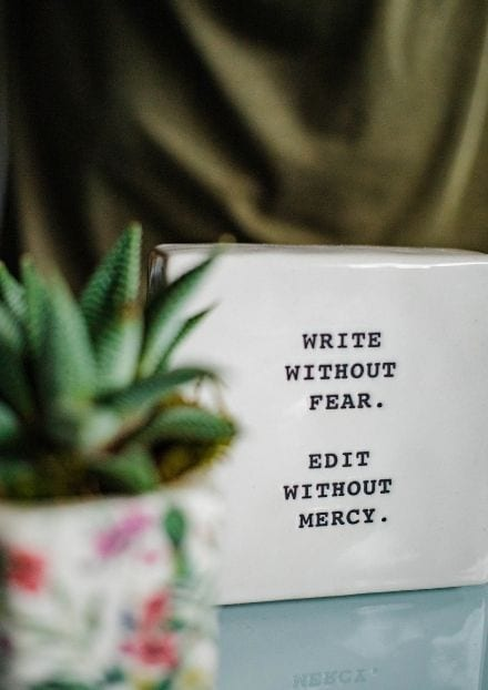 write with passion