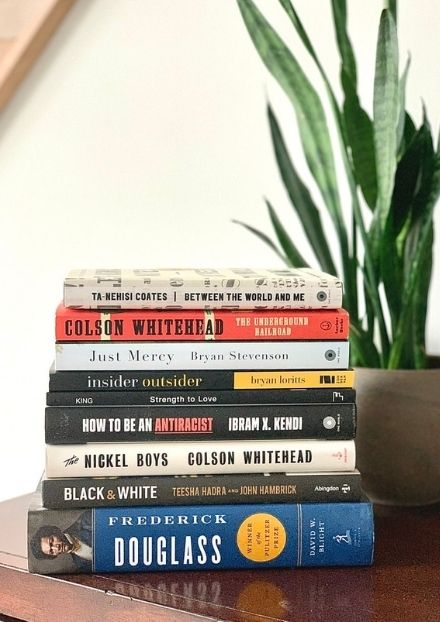 Stack of books and novels